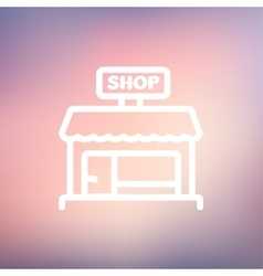 Shop store thin line icon vector