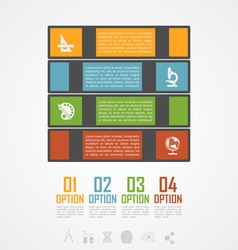 Books stack infographic vector