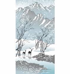 seasons winter vector image