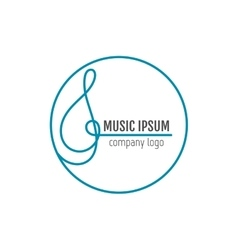 Treble clef Business art music logo for company vector image
