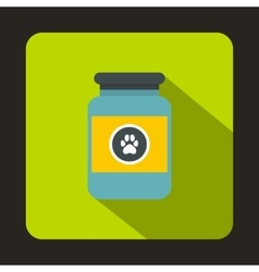 Treatment solution for animals icon flat style vector