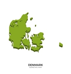 Isometric map of denmark detailed vector