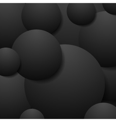 Abstract black circles tech background vector