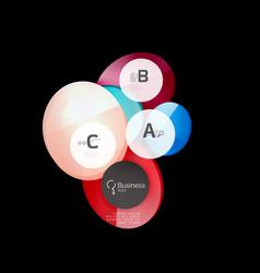 abstract circles on black vector image vector image