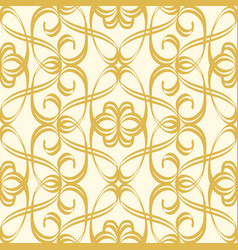 Abstract seamless undisciplined style gold pattern vector