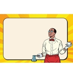 African american barista made freshly ground vector