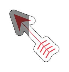 Arrow love card icon vector