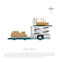 At the airport cargo lift vector