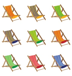 Beach chair colorful beach chair isolated on white vector
