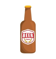 bottle of beer icon design vector image vector image