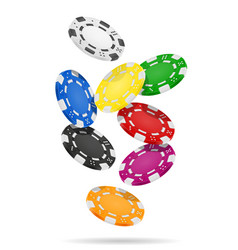 casino chips stock vector image