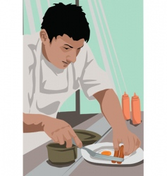 chef breakfast vector image vector image