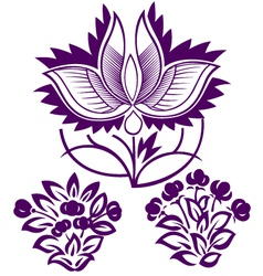 decorative flower emblem vector image vector image