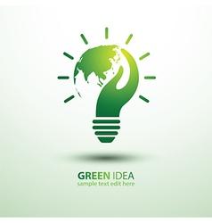 Eco idea2 vector image vector image