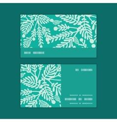 Emerald green plants horizontal stripe vector