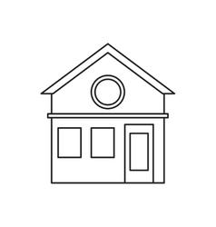 Family house facade residential design pictogram vector