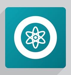 Flat atom icon vector
