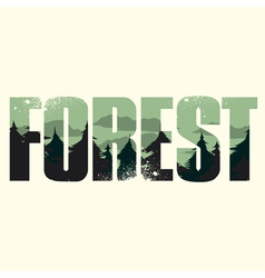 Forest sign vector image vector image