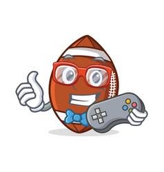 Gamer american football character cartoon vector