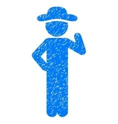 Gentleman proposal grainy texture icon vector