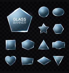glass plates set on transparent background vector image