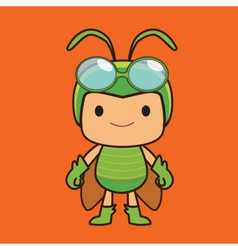 Grasshopper cartoon vector