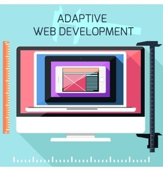Icons for adaptive web development vector image