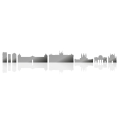 madrid skyline vector image vector image