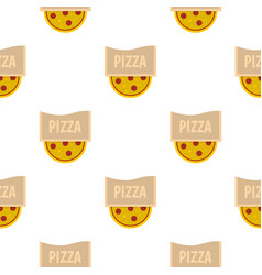 Pizza emblem for pizzeria pattern flat vector