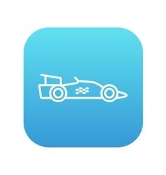 Race car line icon vector