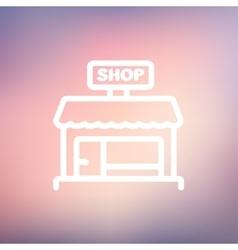 Shop store thin line icon vector