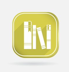 Spines of books color square icon vector