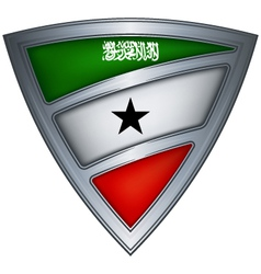 steel shield with flag somaliland vector image vector image