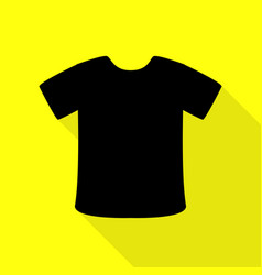 T-shirt sign black icon with flat style shadow vector