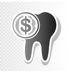 The cost of tooth treatment sign new year vector