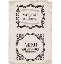 Vector vintage restaurant retro frame background p vector