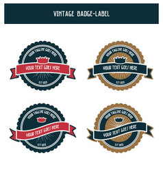 Vintage badge-label vector image vector image