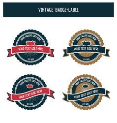 Vintage badge-label vector