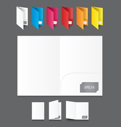 White Blank Folders with icon vector image vector image