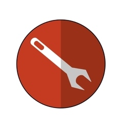 wrench repair tool symbol icon-brown circle shadow vector image