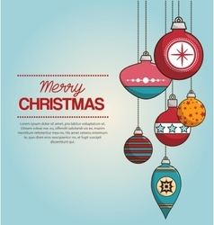 Ball merry christmas isolated vector