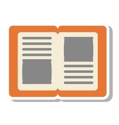 Notebook school isolated icon vector