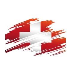 Flag of switzerlandin the form traces brush vector