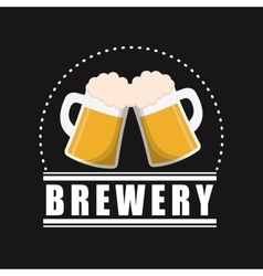 Mugs beer brewery poster black background vector