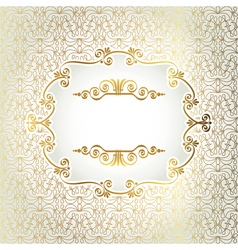 Gold antique frame on a light background of vector