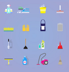 colorful cleaning elements collection vector image
