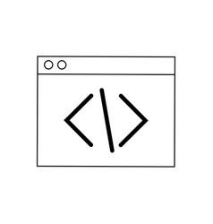 Coding script web development and programming vector