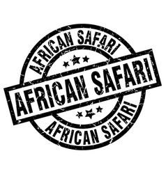African safari round grunge black stamp vector