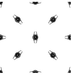 Wristwatch pattern seamless black vector