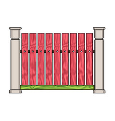 A wooden fence a different fence single icon in vector